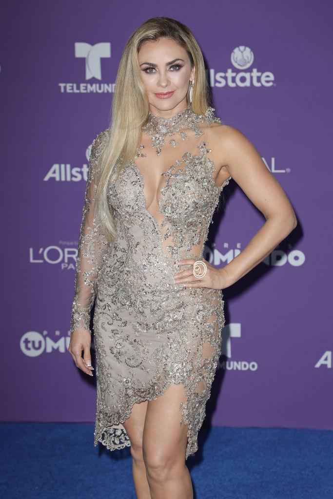 Aracely Arámbula se lució con su vestido en Premios Tu Mundo | Telemundo