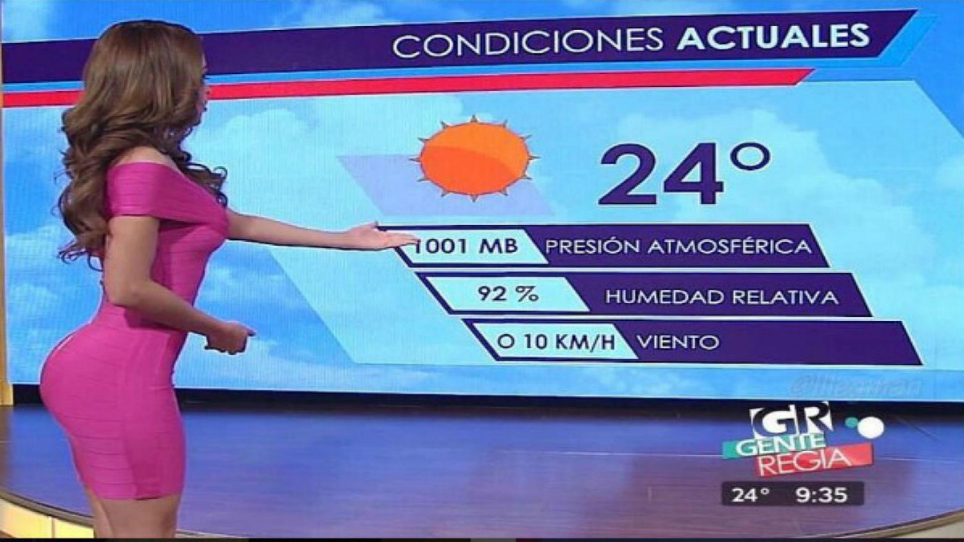 Yanet García, la chica sexy del clima, graba su primera ...
