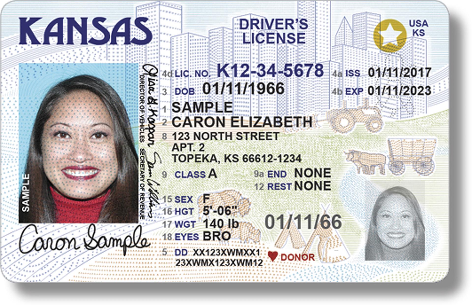 Si su licencia de conducir no tiene una estrella dorada, debe ...