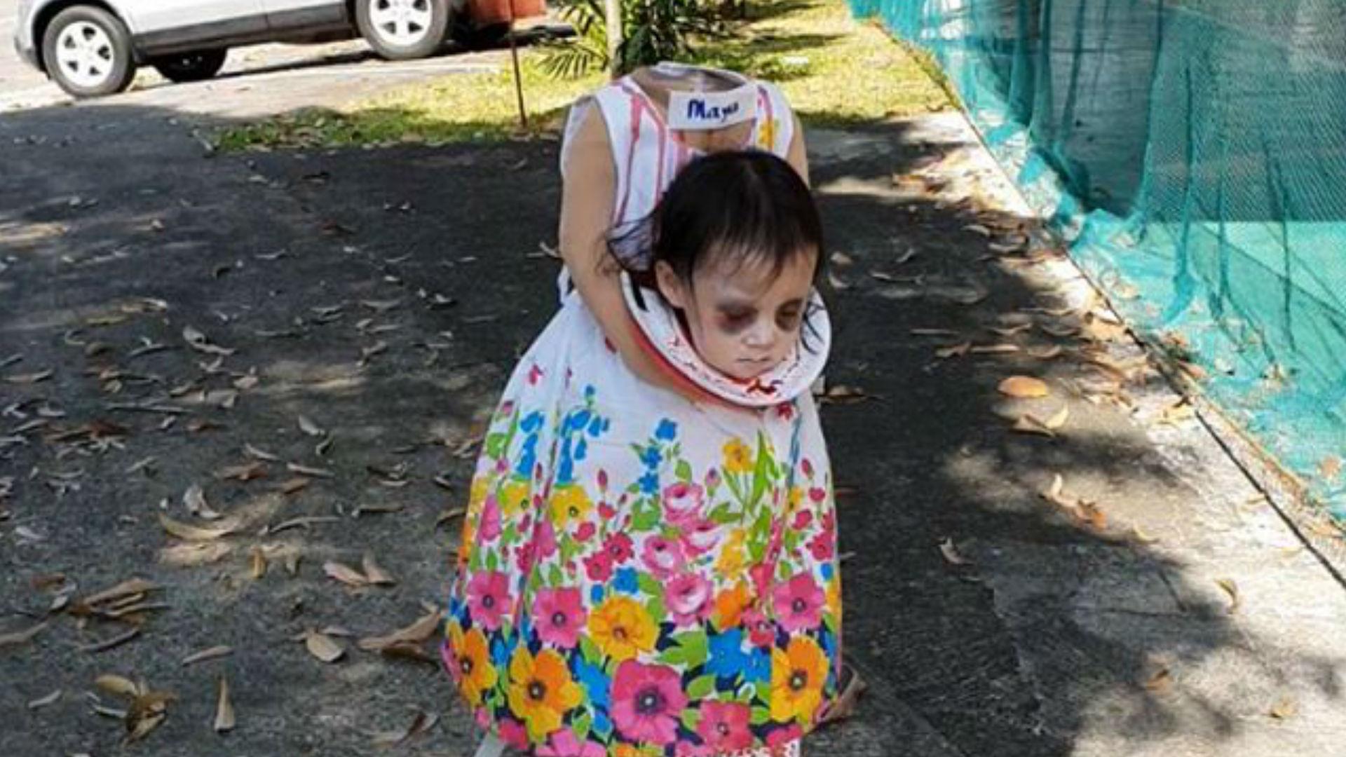 El Disfraz De La Nina Sin Cabeza Que Esta Aterrorizando A Todos - Disfraces-sin-cabeza