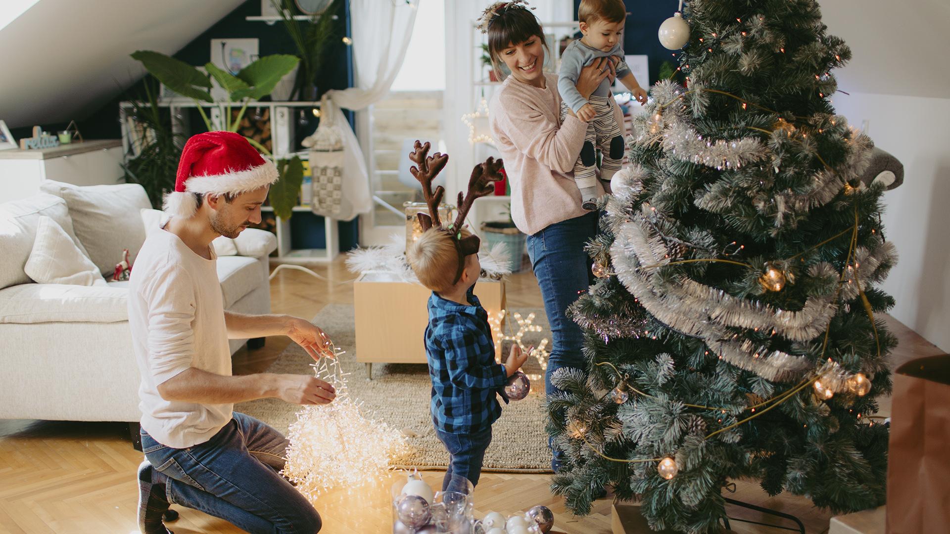 """26/"""" Arbol Centro De Mesa Con Luces Adornos Navidad Para Casa Decoracion El Hogar"""