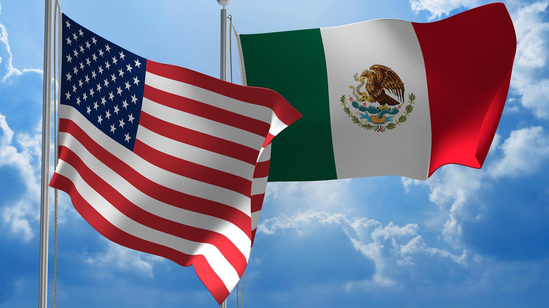 Resultado de imagen para banderas de mexico eeuu