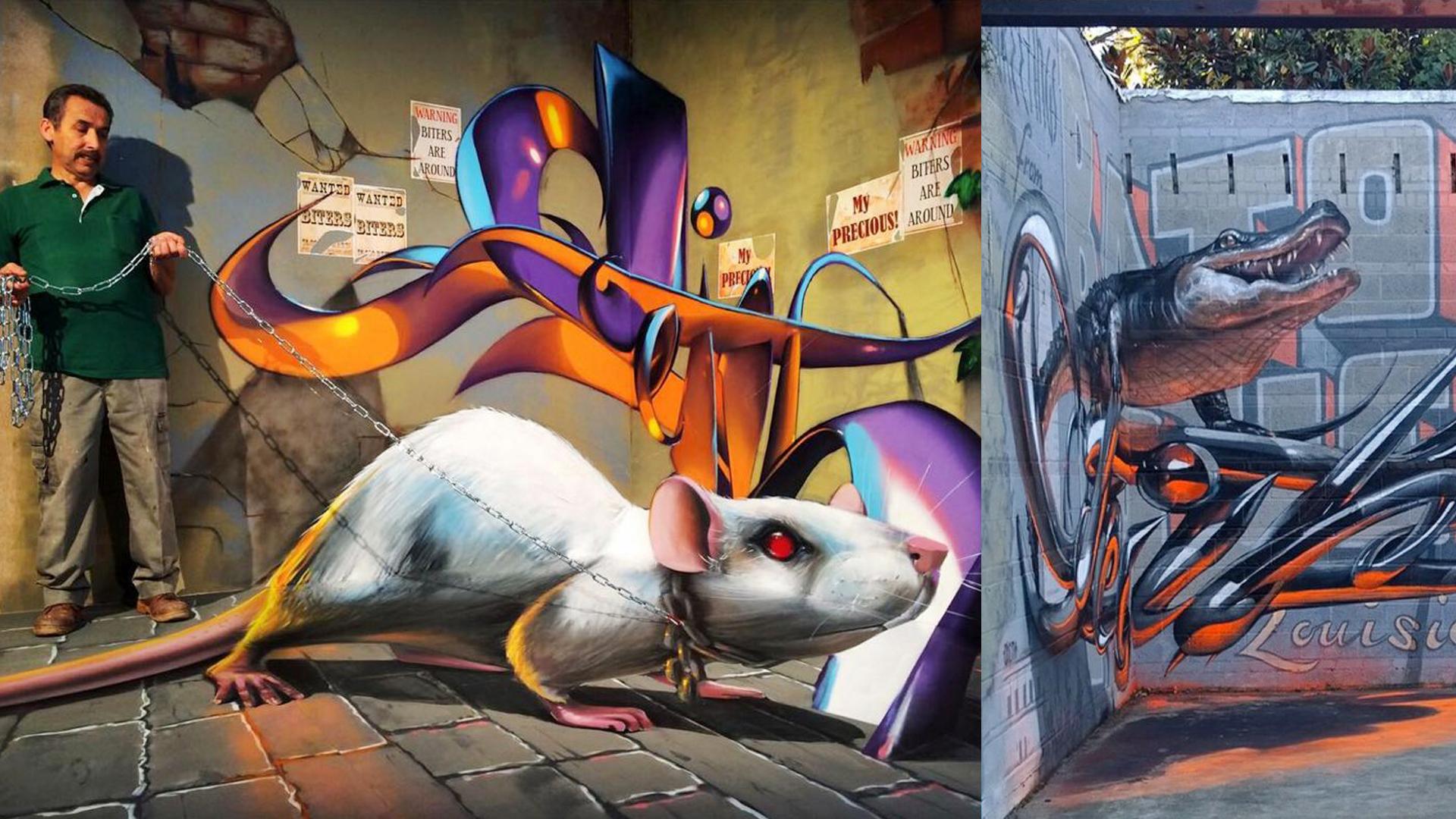 20 grafitis en 3D que parecen salirse de la pared (FOTOS