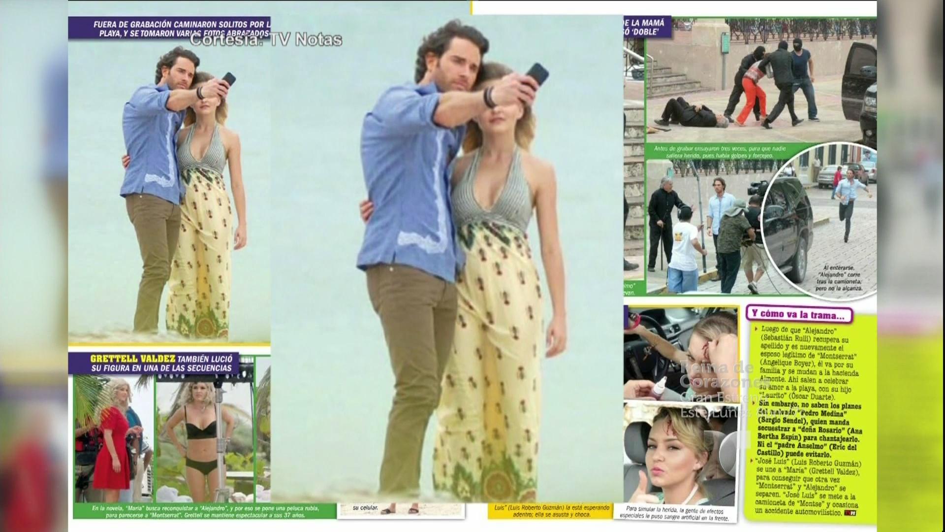 Captan a Sebastián Rulli y Angelique Boyer en la playa. Suelta la ...