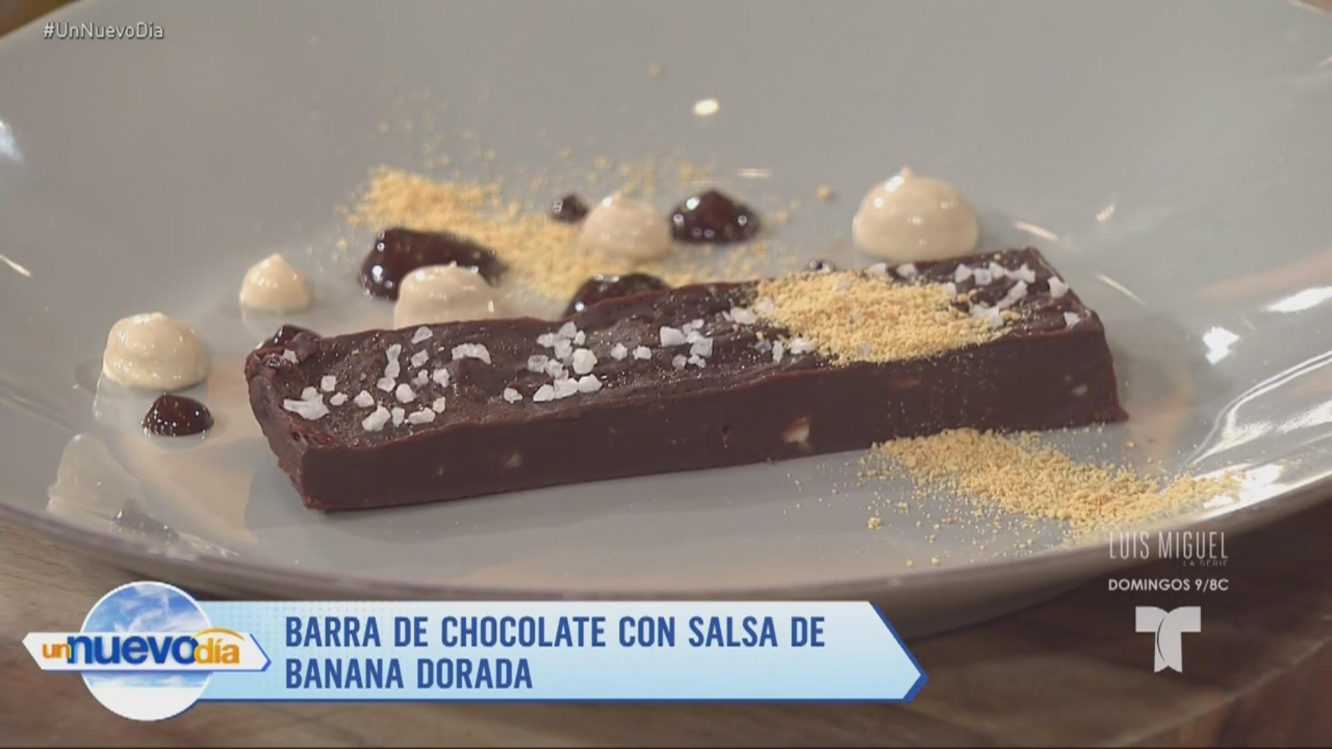 Recetas de cocina: Barra de Chocolate con Salsa de Banana Dorada ...