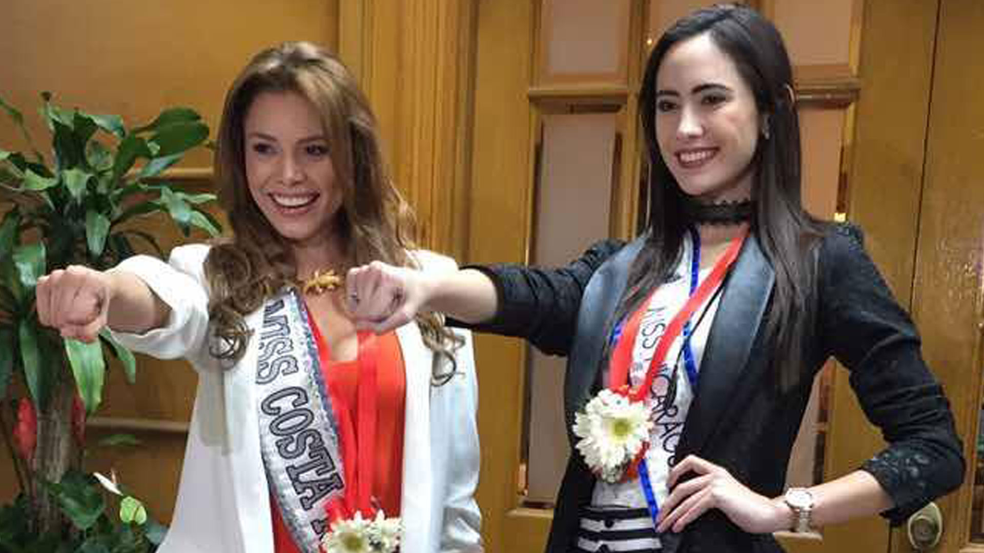Marina Jacoby Wins Miss Nicaragua 2016: El Gesto De Miss Costa Rica Y Miss Nicaragua, De Miss