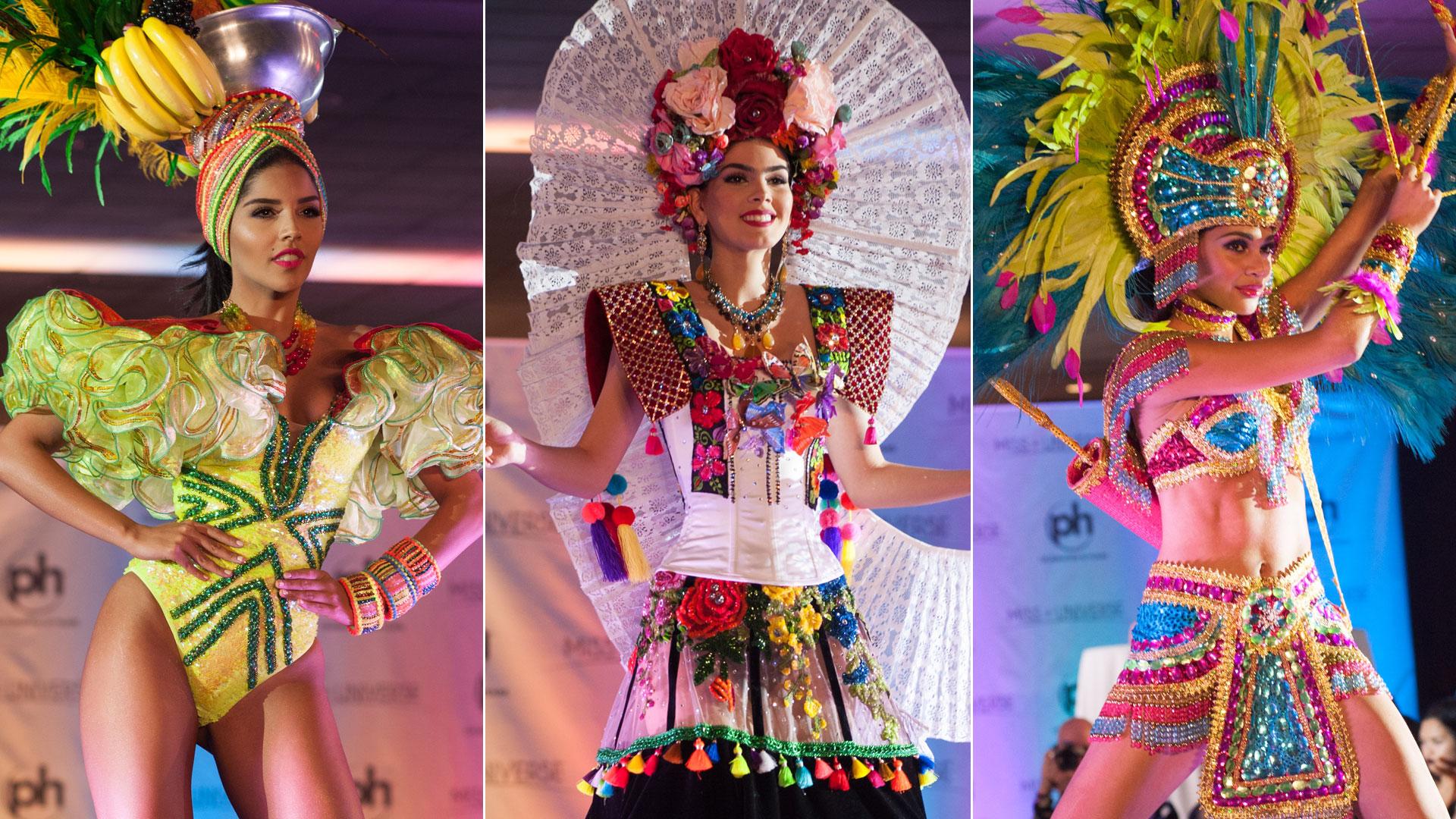 Así lucieron las latinas con sus trajes típicos en Miss