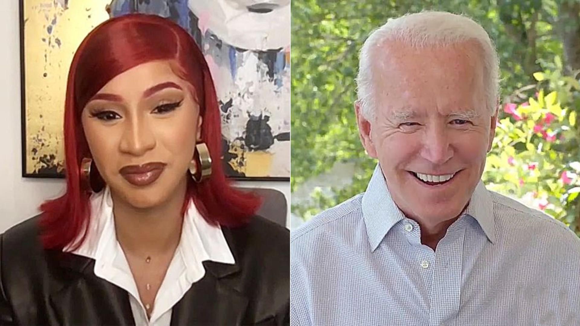 Cardi B entrevista a Joe Biden y hablan sobre racismo, salud y más ...