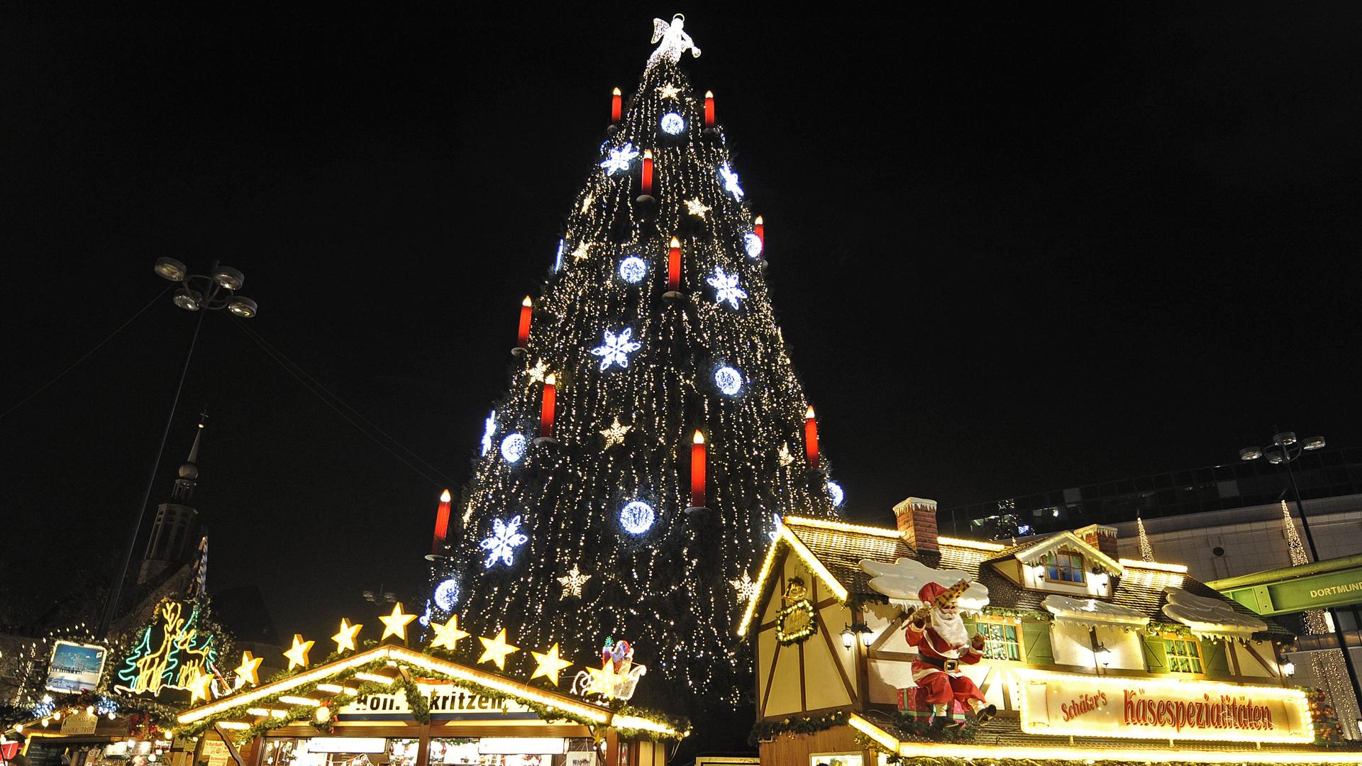 Encienden el rbol de navidad m s grande del mundo video - Los mejores arboles de navidad ...