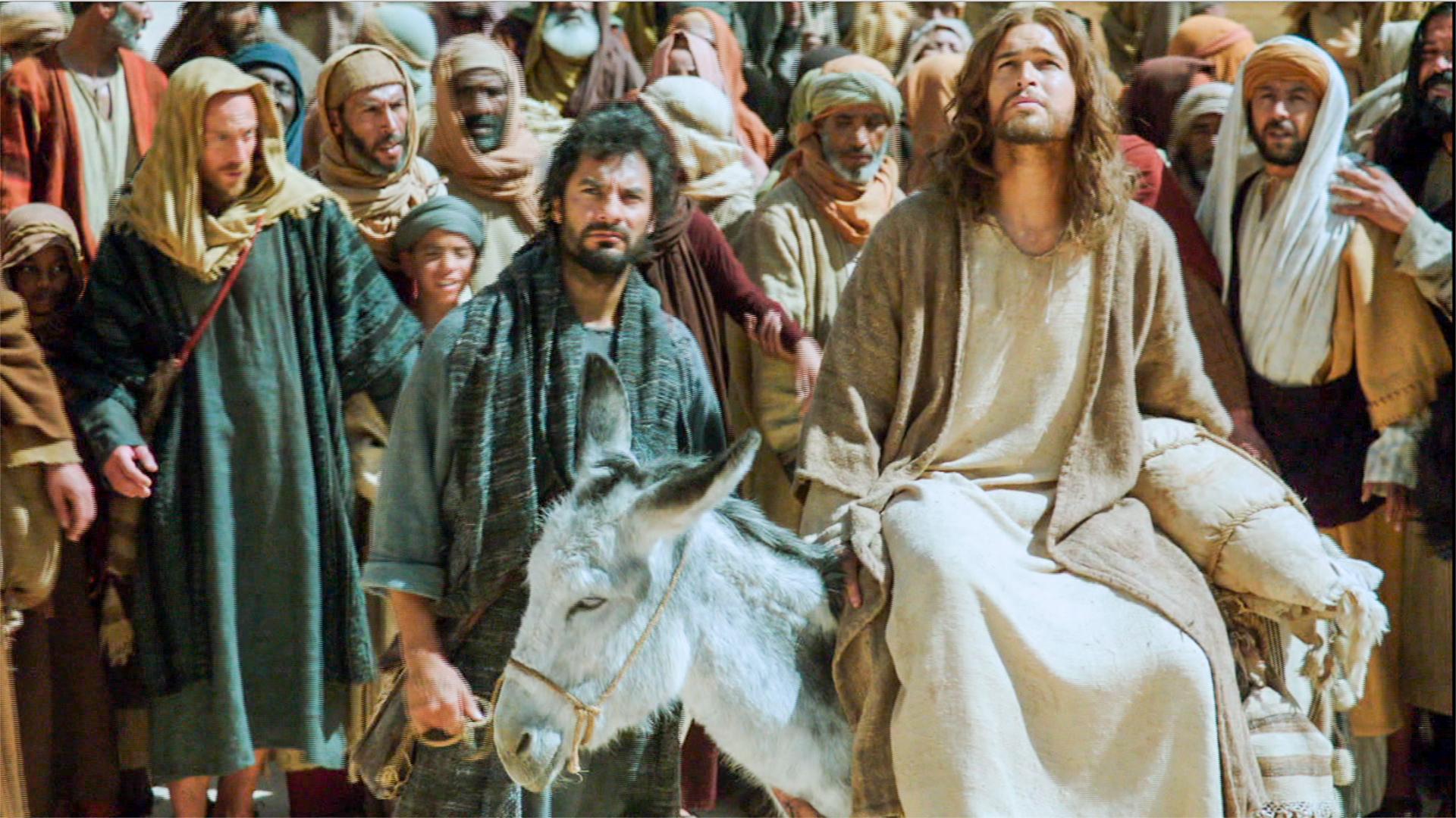 Resultado de imagen para jesús entra a jerusalen