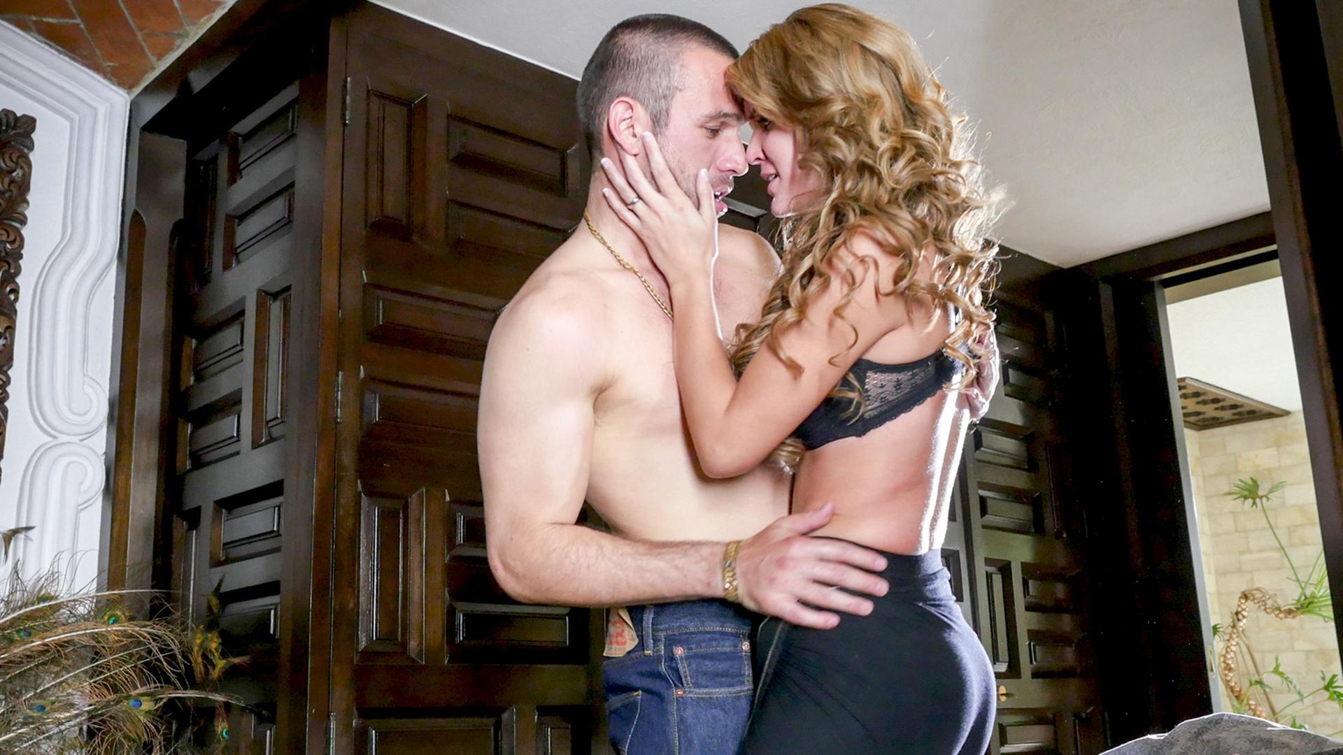 Brunette giving oral sex