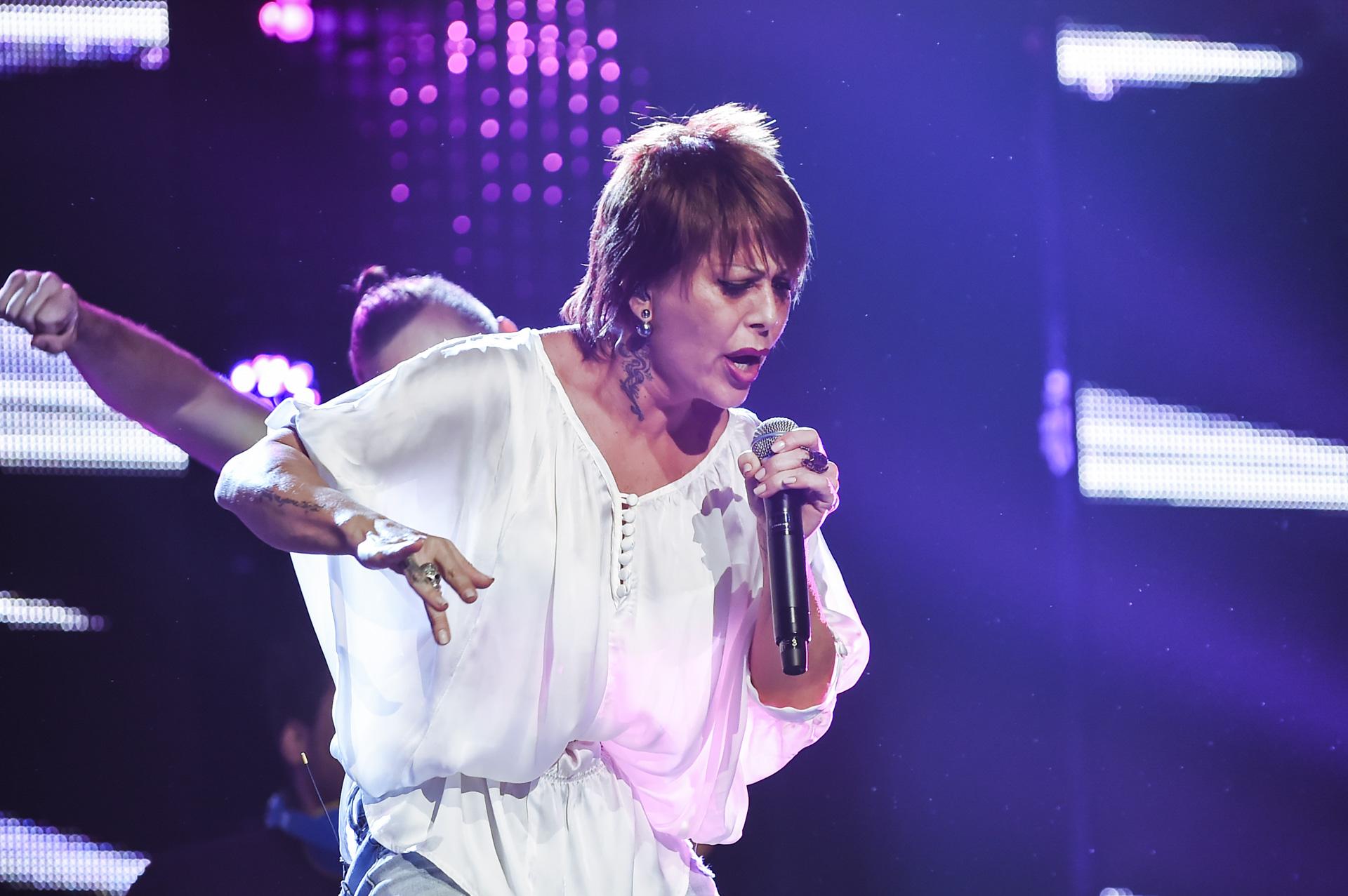 Alejandra Guzmán en los ensayos de Premios Tu Mundo 2015