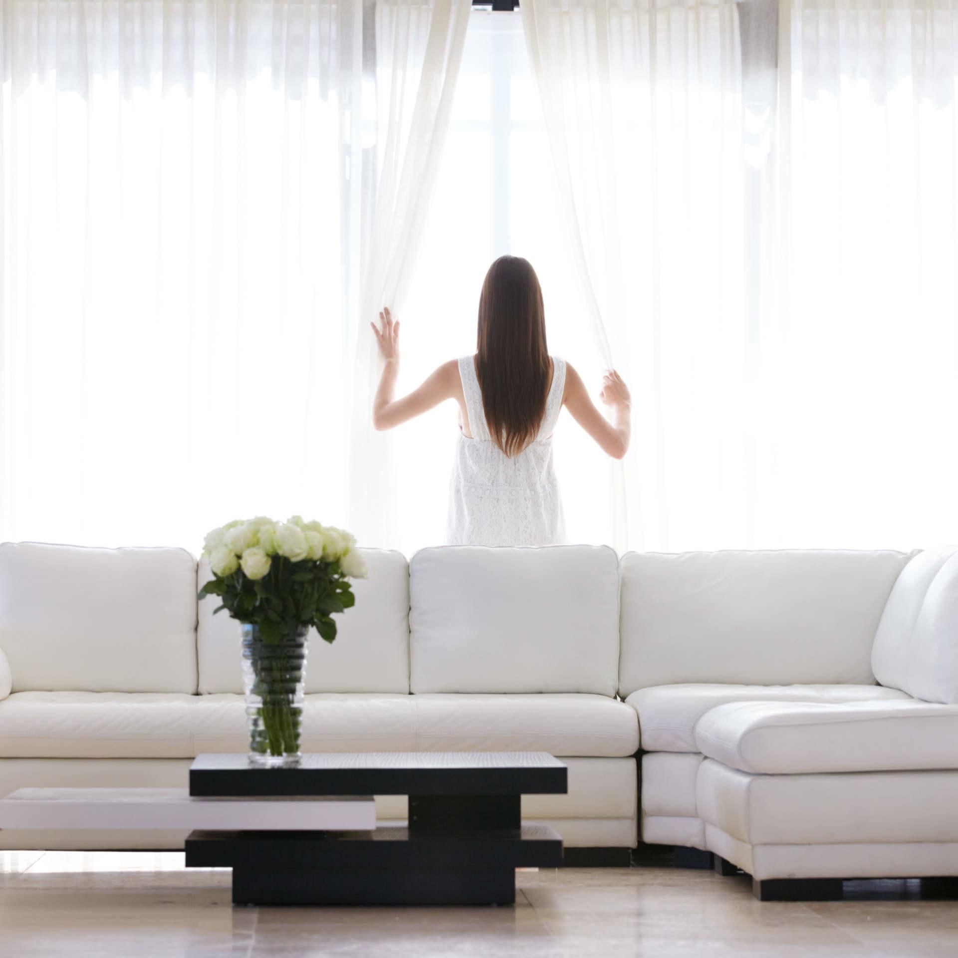 Telas y cortinas limpias