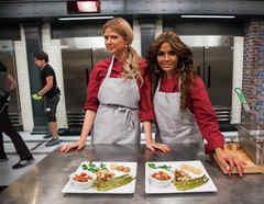 Sissi Fleitas y Maripily Rivera detrás de cámaras en Top Chef Estrellas