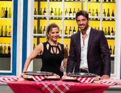 Ingrid Hoffmann y David Chocarro detrás de cámaras en Top Chef Estrellas