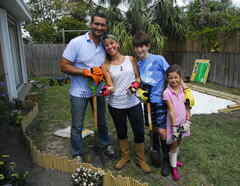 Familia de Emanuela y Marcelo en SOS Salva Mi Casa