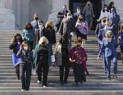 Demócratas en el Capitolio.