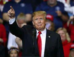 El presidente Donald Trump durante un encuentro con sus seguidores.