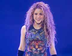 Shakira in concert during her El Dorado World Tour