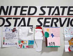 Cartas de Santa en el USPS.