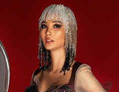 Hoang Thuy, Miss Vietnam 2019 en su traje típico de café helado con leche