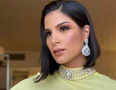 Julia Horta, Miss Brasil 2019, con vestido amarillo