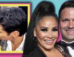 Carolina Sandoval beso David Zepeda, esposo