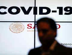El gobierno mexicano dio una conferencia de prensa sobre el nuevo coronavirus el 27 de febrero.