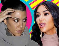 Kim Kardashian Kourtney pelea