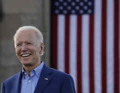 Joe Biden en un acto de campaña en Kansas City (Missouri).