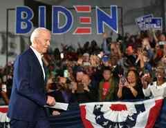 El exvicepresidente Joe Biden es el precandidato demócrata con más posibilidades de enfrentarse a Trump en los comicios de noviembre.