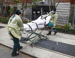 Enfermo de coronavirus en Nueva York.