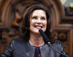 La gobernadora de Michigan, Gretchen Whitmer.