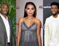 Kobe Bryant, Naya Rivera y Chadwick Boseman