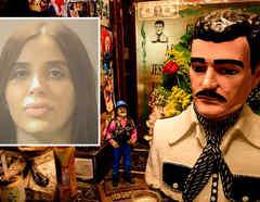 En altar a Malverde piden por Emma Coronel