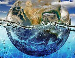 Océanos y continentes en otros planetas