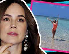 Camila Sodi deja su retaguardia al aire y hasta nada con tiburones