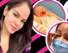 Natti Natasha queda al borde del llanto al ver cómo vacunan a su hija