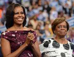 Michelle Obama con su madre, Marian Shields Robinson