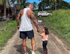Dwayne Johnson y su hija