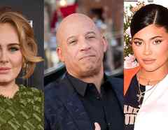 Adele, Vin Diesel, Kylie Jenner