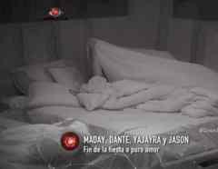 Yaya y Jason bajo las sábanas en la casa de Gran Hermano