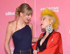 Taylor Swift and Cyndi Lauper at Women in Music 2019