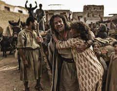 Moisés en la serie La Biblia