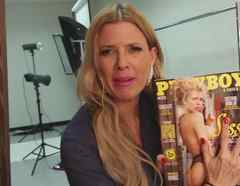 Sissi Fleitas con la revista Playboy