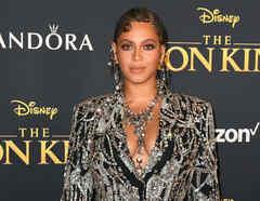Beyoncé en la premier de Disney The Lion King