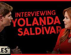 Christian Acosta and María Celeste Arrarás in Latinx Now!: The Files, the interview with Yolanda Saldívar