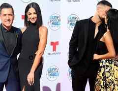 Becky G y su novio y Jorge Bernal y su esposa