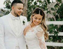 Chiquis Rivera y Lorenzo Méndez en su boda