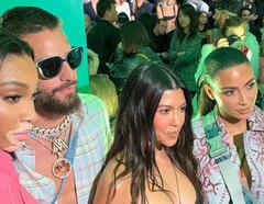 Maluma, Kim y Kourtney Kardashian, Winnie Harlow en la presentación de la nueva colección de Dior